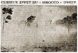 Photo de l'Almanach d'événement météo du 29/7/1921